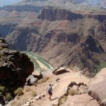 Carol Williams:  Heading Down the Grand Canyon at S. Kaibab trail (May 2012).