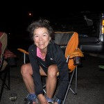 Carol Williams: Smiling at the end of 100k ultra (2012).