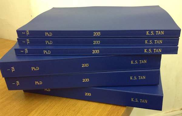 2013: Kai's fine-art practice-related thesis totalling about 100,000 words (including appendices) and 323 pages.